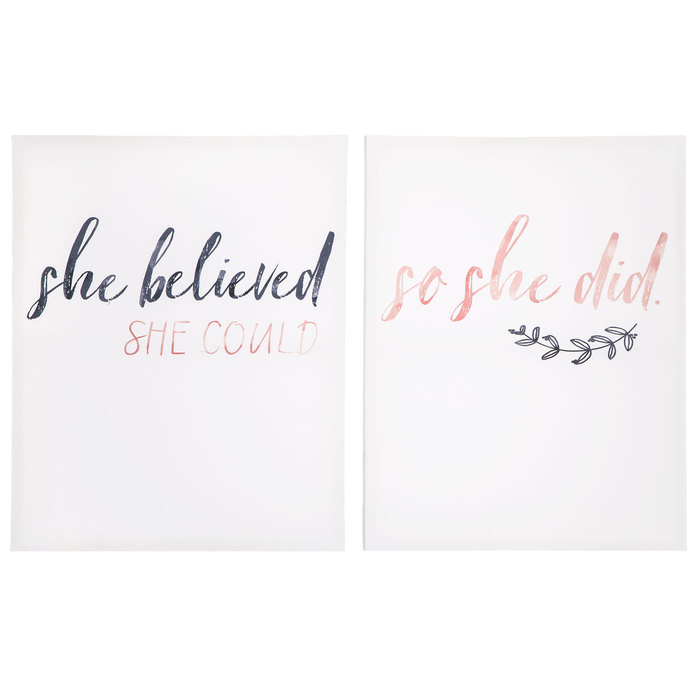 Girl Wall Art She believed she could so she did She Quote She believed Wall Decal