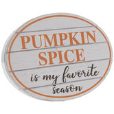 Pumpkin Spice Oval Wood Decor