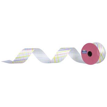 """Pastel Plaid Satin Ribbon - 1 1/2"""""""