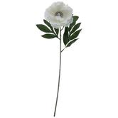 Cream Rhinestone & Pearl Center Georgia Rose Stem