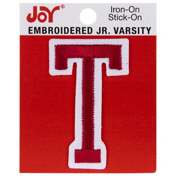 "Red Junior Varsity Letter Iron-On Applique T - 2"""