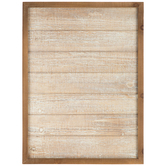 Brown Stained Wood Wall Decor