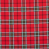 Red, Green & Gold Plaid Cotton Fabric