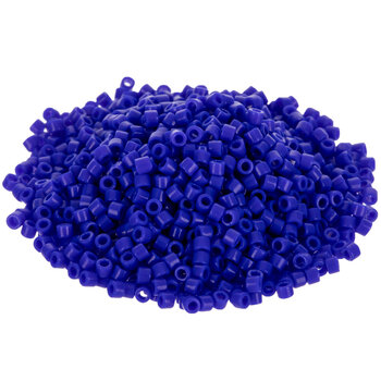 Seed Beads Delica Glass DB726 Round Opaque Dark Blue 50g