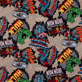 Marvel Comic Burst Cotton Calico Fabric