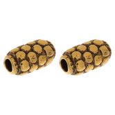 Dot Texture Tube Beads - 5mm x 9mm