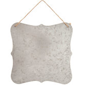 Quatrefoil Galvanized Metal Wall Decor
