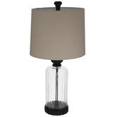 Ribbed Jar Glass Lamp