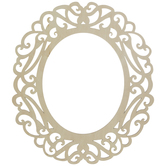 "Scroll Oval Wood Frame - 8"" x 10"""