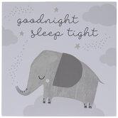 Goodnight Sleep Tight Elephant Wood Decor