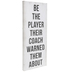 Be The Player Canvas Wall Decor