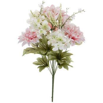 Pink Dahlia, Rose & Hydrangea Bush