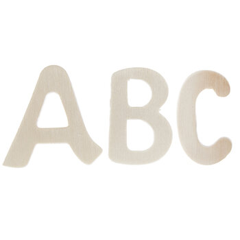 """Brushed Wood Letters - 1 1/4"""""""