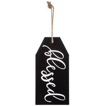 Blessed Metal Tag Wall Decor