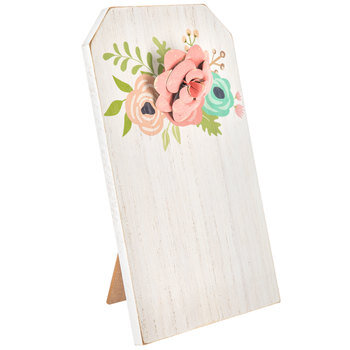Floral Wood Clipboard With Stand