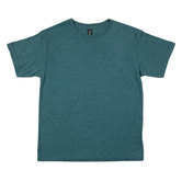 Heather Dark Green Tri-Blend Youth T-Shirt - Small