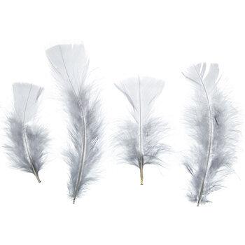 Silver Gray Turkey Flats Feathers