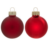 Red Matte & Shiny Ball Ornaments