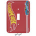 Red Hot Wheels Metal Single Switch Plate