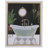 Black & Gold Bathroom Wood Wall Decor