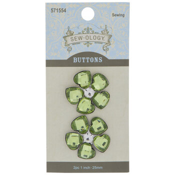 Rhinestone Flower Shank Buttons