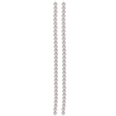 Silver Czech Glass Pearl Bead Strands - 6mm