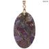 Purple Plated Jasper Pendant