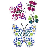 Butterfly Rhinestone Stickers
