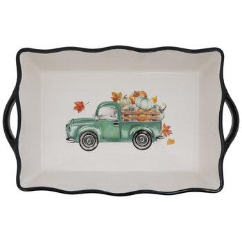Truck & Pumpkins Serving Dish