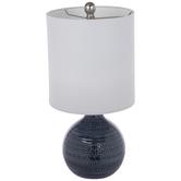 Blue Round Lamp