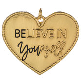 Believe In Yourself Heart Pendant