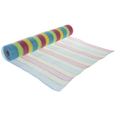 Easter Striped  Deco Mesh - 21""