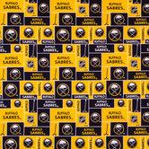 NHL Buffalo Sabres Block Cotton Fabric