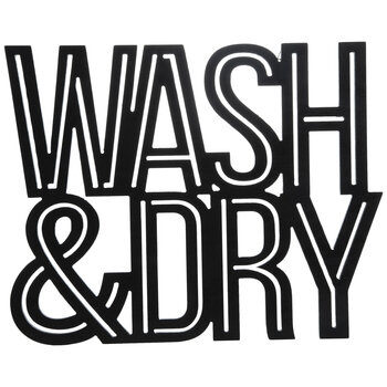 Wash & Dry Black Wood Wall Decor