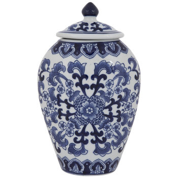 Blue & White Floral Canister