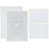 Ivory Vellum Jacket Wedding Invitations