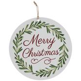 Merry Christmas Wood Wreath Embellishment