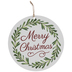 Merry Christmas Wood Wreath Embellishment