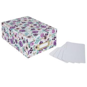 Purple Floral Photo Storage Box