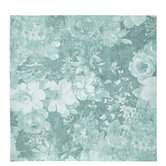"""Turquoise Floral Scrapbook Paper - 12"""" x 12"""""""