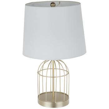 Gold Birdcage Metal Lamp