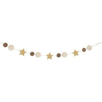 Gold & Brown Star & Circle Banner