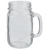Glass Mason Jar Mug