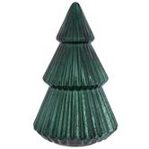 Light Up Ribbed Glass Tree