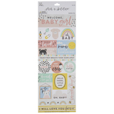 Welcome Baby Girl Cardstock Stickers