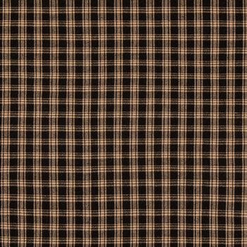 Black & Tan Homespun Plaid Cotton Calico Fabric