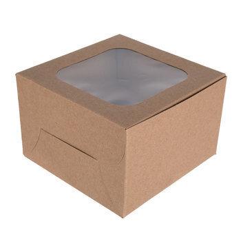 Kraft Single Cupcake Boxes