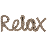 Relax Rope Wood Wall Decor