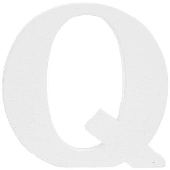 """White Wood Letter Q - 3"""""""