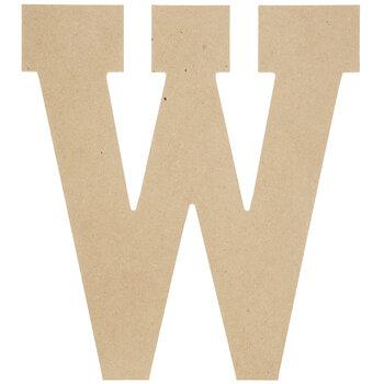 "Wood Letter W - 13"""